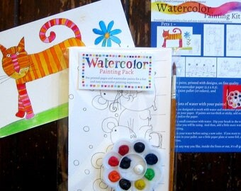 Watercolor Painting Kit for Kids - Pets