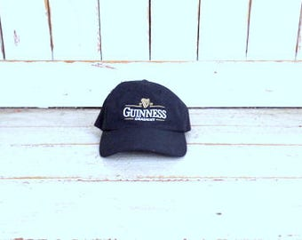 90s vintage black Guinness Draught baseball hat/beer/alcohol/drinking/bar/baseball/trucker cap/Irish beer hat