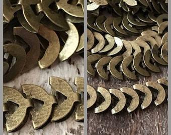SALE NEW chain half moon Luna chevron 8mm High Quality solid brass antique brass plating CHEVRON chain