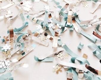snowflake, baby its cold outside, confetti, blue, winter wonderland, winter onderland, winter birthday, baby shower, frozen party, silver