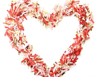 Valentine's Day Stock Photography, Instant Download, Heart Photo, Commercial Use, Confetti Heart, Valentines Day, Social Media Marketing