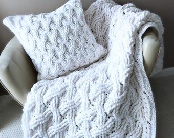 Crochet Afghan Pattern, The Hudson Afghan Pattern, Crochet Pattern, Crochet Afghan Pattern, Cabled Afghan Pattern, Blanket Pattern