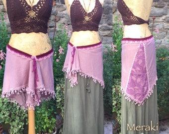 Fairy Layer Skirt Belt, Wrap Skirt, Lace Pixie Skirt