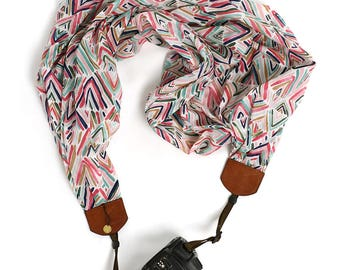 scarf camera strap lets go fly a kite - BCSCS104
