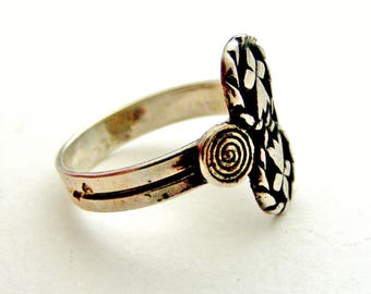 French celtic 900 silver Breton  ring