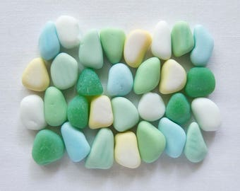 English Sea Glass - Milk Glass -Lot DC1124