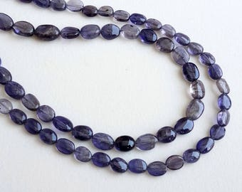 13 Inch Iolite Plain Oval Beads, 5-7mm Natural Iolite Beads, Iolite Necklace, Iolite Stones, Iolite Jewelry, 45 Pcs - PUSDG4
