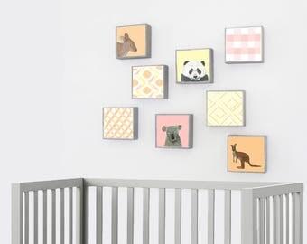 Zoo Nursery Animals Australia Nursery Art. tribal jungle Nursery Art Prints. choose 8 prints kangaroo panda koala nursery redtilestudio