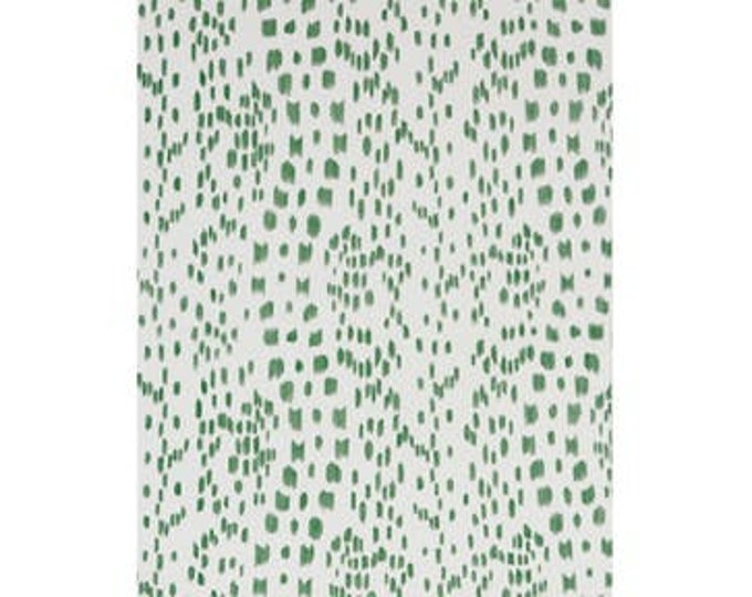 Custom Order for Caitlin - Brunschwig and Fils Les Touches Green Animal Print Designer Pillow Cover with Green Linen Piping