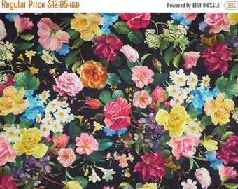 ON SALE Stunning Allover Floral Catherine Digital Print Pure Cotton Fabric--By the Yard