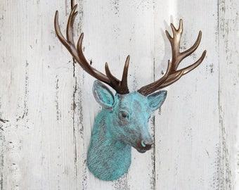 ON SALE Deer Head / Mini Faux Taxidermy  / Antler / Stag / Deer Decor / Woodland Nursery/ Nursery Animal Head