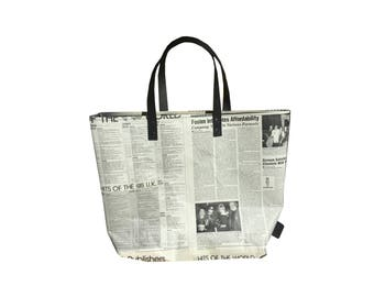Real newspaper tote bag