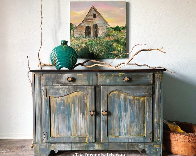 Featured listing image: SOLD Rustic Boho Farmhouse Buffet