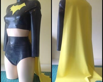 Latex Batman or Batgirl Inspired Outfit