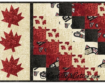 Oh Canada Sixes Table Mat Quilt Kit, 4974-4, Canada table mat, Canada wall quilt, Canada wall hanging