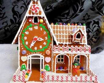 Faux Gingerbread Clock