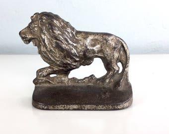 Handsome Heavy Lion Bookend Doorstop Figurine