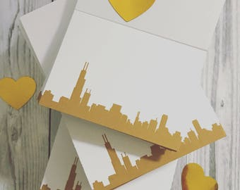 Wedding Escort/Place Cards with Your City Silhouette