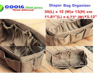 Diaper Bag Organizer Insert for Louis Vuitton Neverfull MM / Extra Sturdy /  Faux Suede Light Brown / Large 30x12cm