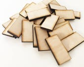 "Unfinished Wood Dominoes 1""x2"" inch Set of 25, wood rectangles, DIY supplies, Craft supplies, laser cut wood, wood shape"