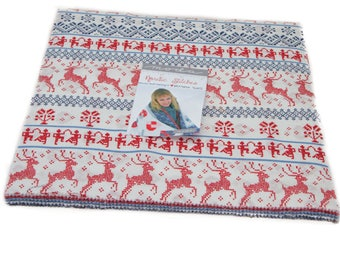 Nordic Stitches Layer Cake Fabric Bundle, Moda Fabrics, Nordic Christmas Decor, Scandinavian, Scandi Christmas, Precut 10 In Fabric Squares