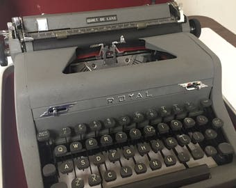 Vintage Royal Typewriter Quiet De Luxe Portable with Case