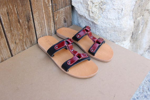 Men's leather sandals, leather sandals, greek sandals, mens sandals size 41