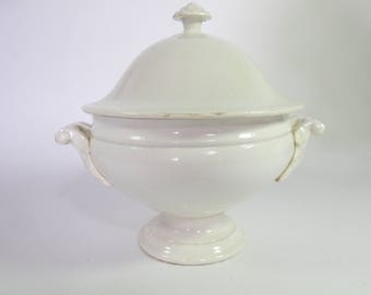 Antique French Porcelain Soup Tureen Fine and Elegant  c. 1890-1910