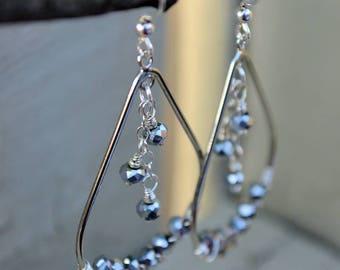 Silver Lining and Moonbeam Earrings- wedding, bridesmaid, gift idea, anniversary, stocking stuffer, hostess gift, graduation, push present