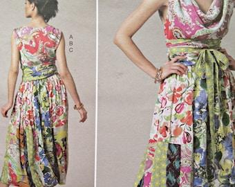 Vogue 1244 Sewing Pattern, Koos Van Den Akker Design, Cowl Neck Top, Bubble Skirt, Bust 31.5 to 36, Vogue American Designer, 2011 Pattern