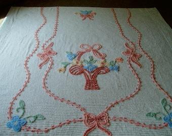 vintage chenille bedspread chenille bedspread