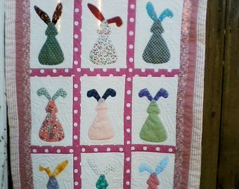 Bunny Rabbit Quilt for Girl