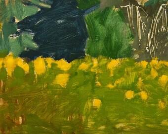 San Diego Landscape Painting- Balboa Park Wildflowers