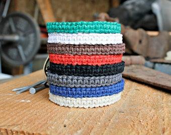 Mens Hemp Bracelet, Natural Friendship Style Bracelets