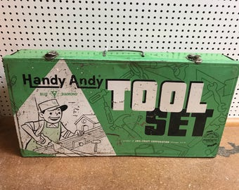 Vintage Handy Andy Tool Set, Box Only