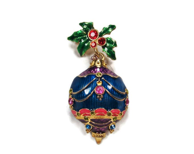 Christopher Radko Christmas Ornament Brooch