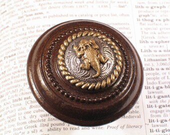 Vintage Upcycled Western HORNY TOAD Beaded Door Knob - Horned Lizard - Antique Doorknob Hardware