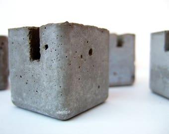 concrete blocks. table marker stands. 7 blocks.
