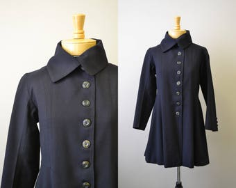 1930s/40s Black Wool Coat
