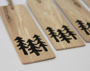 trees - a natural wood bookmark from reclaimed wood