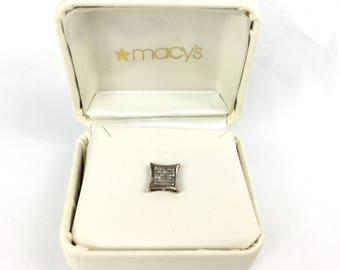 Single Diamond Stud Earring / Gifts For Men / 925 / Rare Beauty