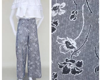 70s Pants / Bell Bottom Pants / Floral Pants / High Waist Pants