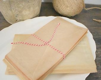 Vintage glassine envelopes- set of 12 envelopes
