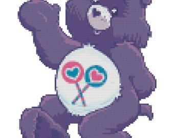 Share Alot Bear Cross Stitch Pattern (PDF)