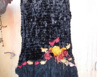 20%OFF bohemian skirt,tattered skirt, gypsy skirt, boho skirt, wrap skirt, gothic, bridal, victorian, gypsy, belly dance, mori girl, lace