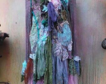 20%OFF wildskin, tattered jacket, bohemian jacket, boho jacket, coat, stevie nicks, gypsy, bohemain, gothic, medium jacket, pink jacket,
