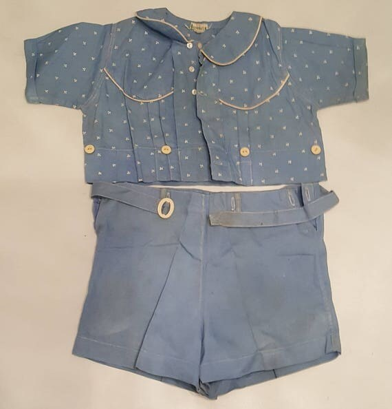 Vintage Stantogs 2 piece baby outfit