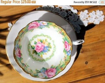 ON SALE MISMATCHED Paragon, Bone China, Tea Cup by Appointment, Tapestry Rose, Vintage Tea Cups 12935