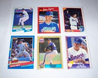 Vintage Lot of 6 Nolan Ryan Baseball Cards