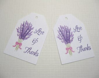 10 Thank You Wedding Favor Tags  Wedding Favors  Lavender Wedding Tags  Paris Wedding  French Themed Wedding  Bridal Shower Favor Tags